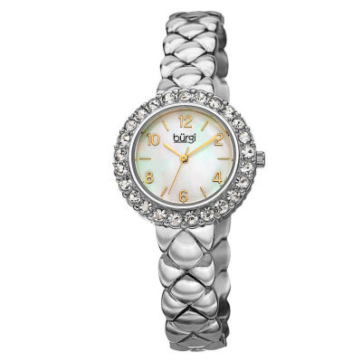 Burgi - Ladies Quartz Stainless Steel Swarovski Crystal Bracelet Watch BUR113SS