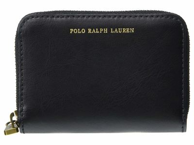 Lauren Ralph Lauren - Lauren Ralph Lauren Black Amy Leather Small Zip Wallet Coin Card Case
