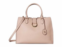 Lauren Ralph Lauren Mellow Pink Large City Satchel Satchel Handbag - Thumbnail
