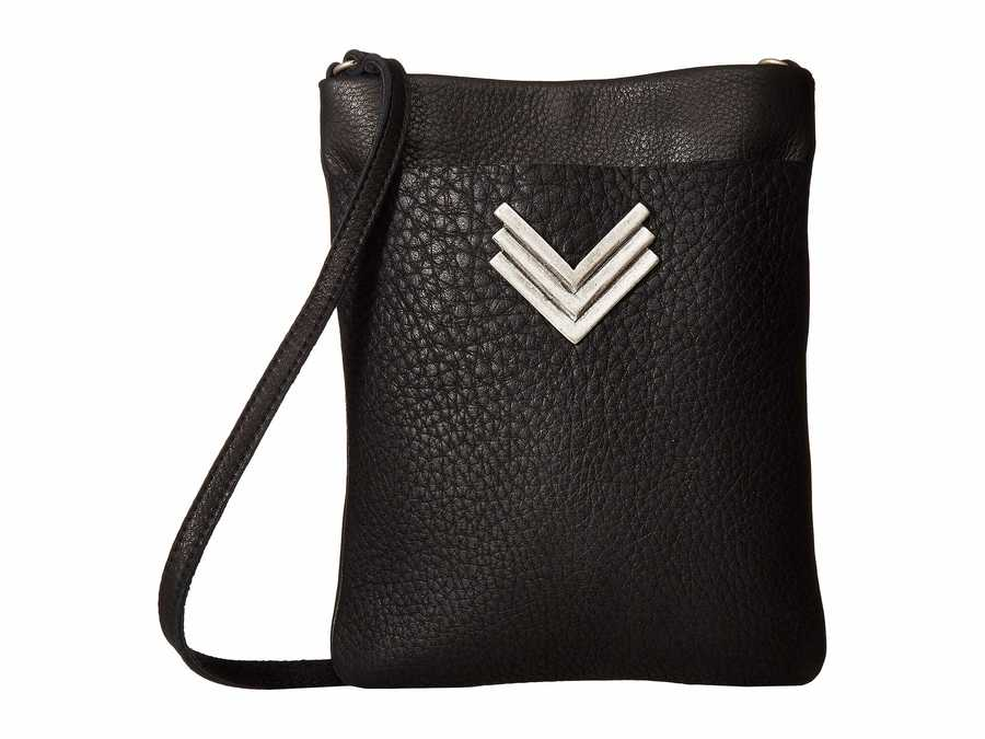 Leatherock Black Rebel Cell Pouch Cross Body Bag