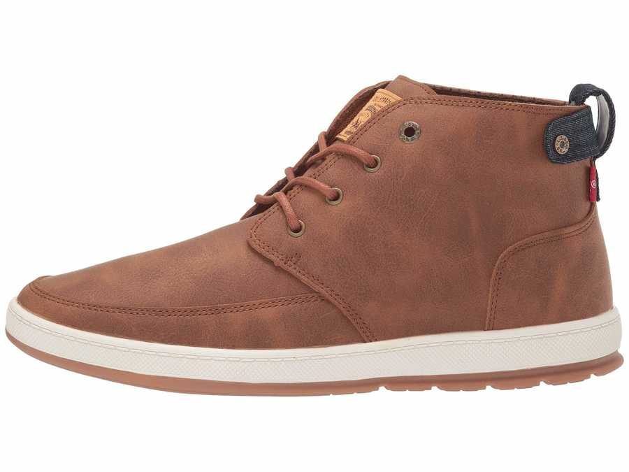 Levi'S® Shoes Men British Tan Atwater Waxed Lifestyle Sneakers