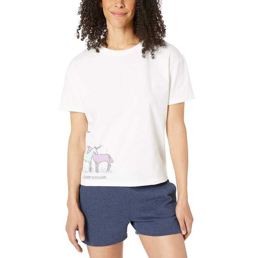 Life İs Good Cloud White Snuggle Up Relaxed Sleep Tee