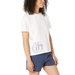 Life İs Good Cloud White Snuggle Up Relaxed Sleep Tee - Thumbnail