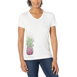 Life İs Good Cloud White Welcome Pineapple Tiny Hearts Crusher™ Vee - Thumbnail