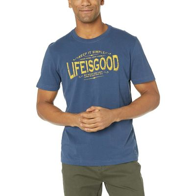 Life İs Good - Life İs Good Darkest Blue Lıg Classic Message Crusher™ Tee