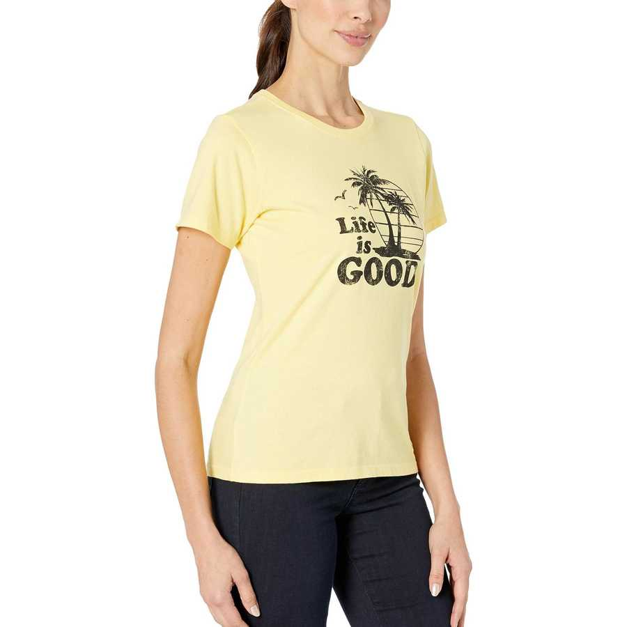 Life İs Good Happy Yellow Copper Palms Crusher™ Tee