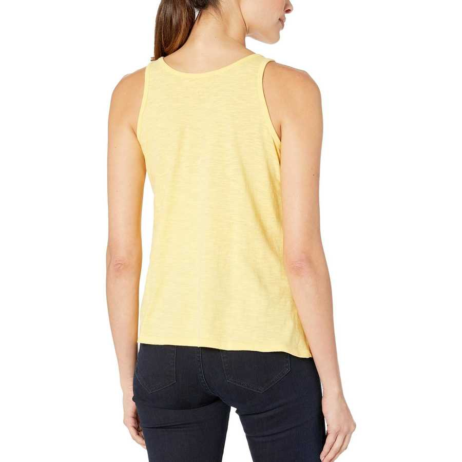 Life İs Good Happy Yellow Mountains Are Calling Breezy Tank Top