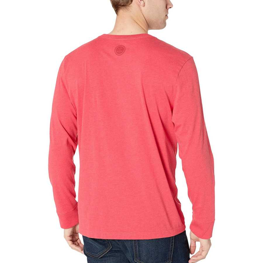 Life İs Good Heather Americana Red Wrong With This Pitcher? Crusher™ Long Sleeve Tee