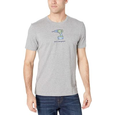 Life İs Good - Life İs Good Heather Gray Drill Sergeant Vintage Crusher™ Tee