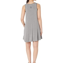 Life İs Good Heather Gray Trapeze Pocket Dress - Thumbnail