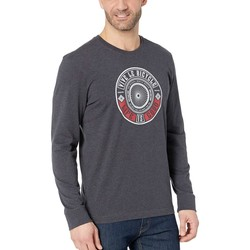 Life İs Good Heather Night Black Vive Le Bicycle Crusher™ Long Sleeve Tee - Thumbnail