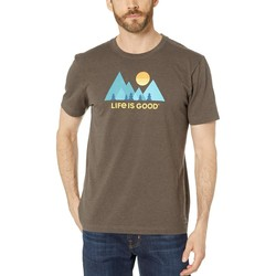 Life İs Good Heather Rich Brown Minimalist Landscape Crusher™ Tee - Thumbnail