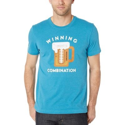 Life İs Good - Life İs Good Heather Seaport Blue Winning Combination Crusher™ Tee