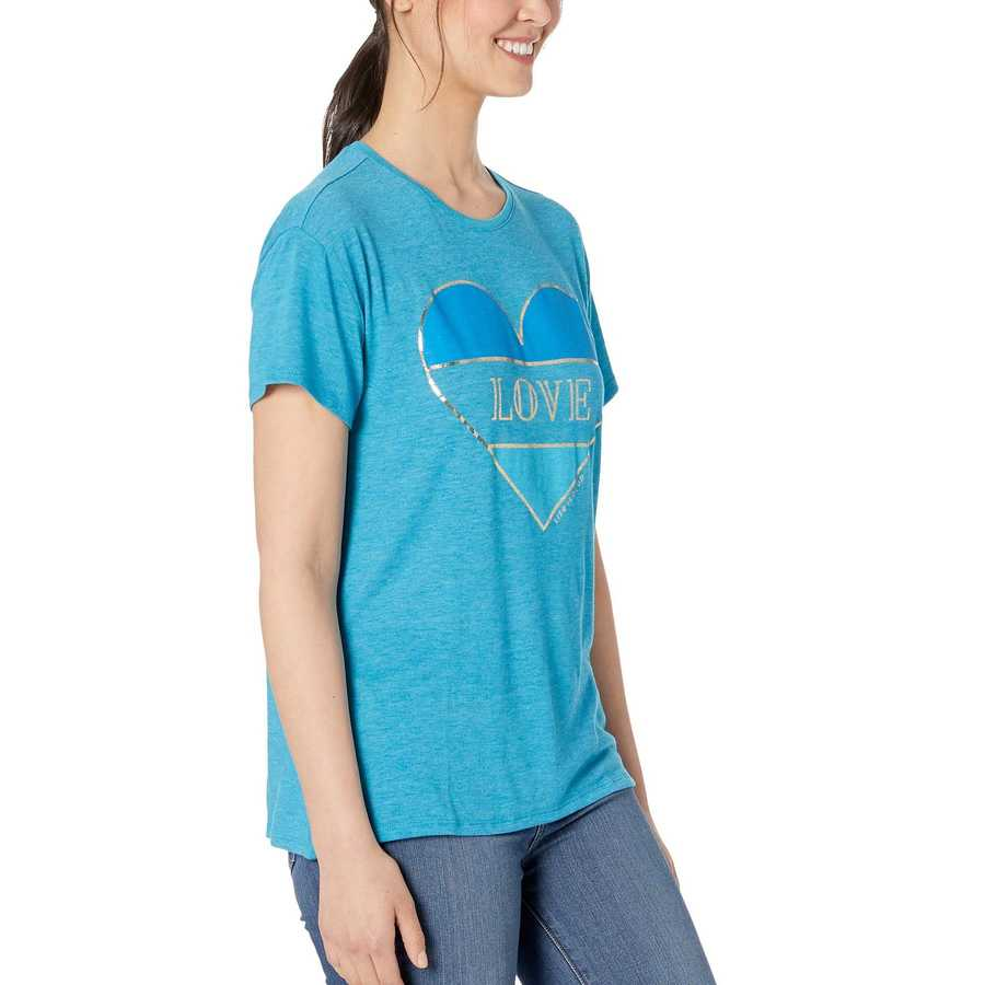Life İs Good Seaport Blue Favorite Slouchy Tee