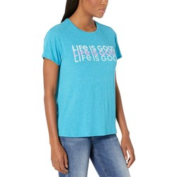 Life İs Good Seaport Blue Lıg Repeat Favorite Slouchy Tee - Thumbnail