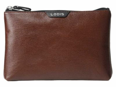 Lodis Accessories - Lodis Accessories Brown Flat Pouch Clutch Bag