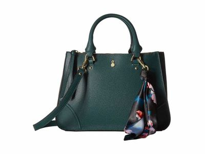 London Fog - London Fog Dark Teal Sophia Satchel Satchel Handbag