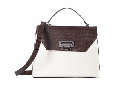 London Fog - London Fog İvory Vivian Flap Satchel Handbag