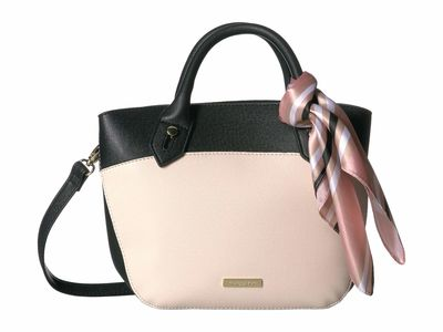 London Fog - London Fog İvory/Black Wembley Satchel Handbag