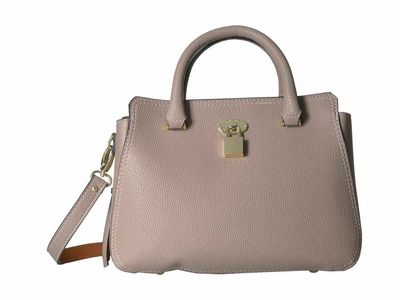 London Fog - London Fog Mushroom Kate Satchel Ostrich Satchel Handbag