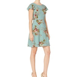 London Times Blue Multi Bubble Crepe Fit & Flare Dress - Thumbnail