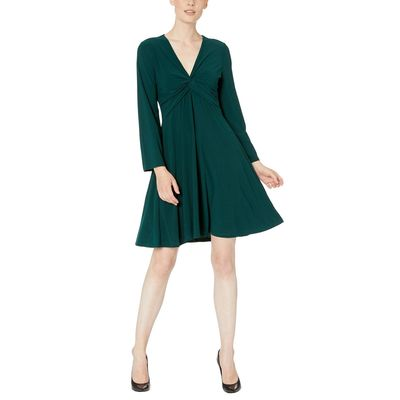 London Times - London Times Hunter Bell Sleeve Twist Front Dress