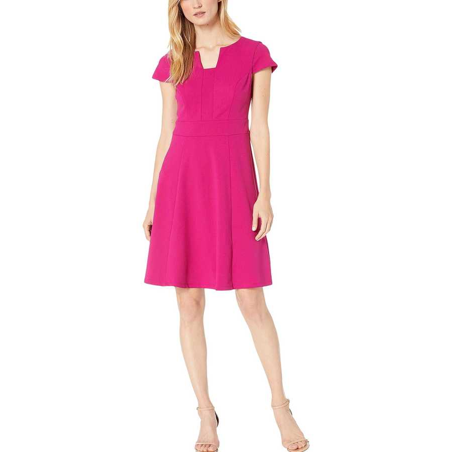 London Times Orchid Fit-And-Flare Dress
