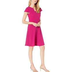 London Times Orchid Fit-And-Flare Dress - Thumbnail