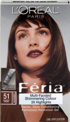 LOreal - LOreal Feria Multi-Faceted Shimmering Color - 51 Bronzed Brown - Warmer 1 Application