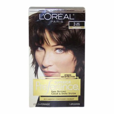 LOreal - LOreal Superior Preference Fade-Defying Color 3 Soft Black - Natural 1 Application