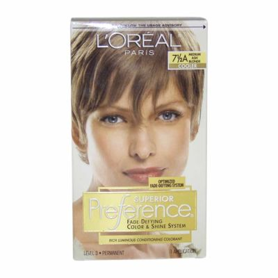 LOreal - LOreal Superior Preference Fade-Defying Color 7.5A Medium Ash Blonde - Cooler 1 Application