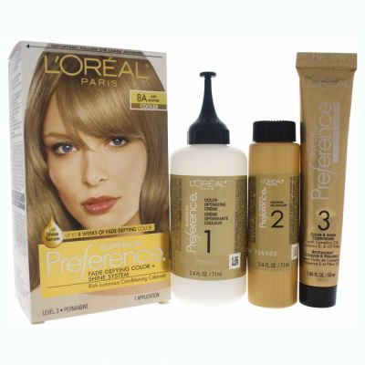 LOreal - LOreal Superior Preference Fade-Defying Color 8A Ash Blonde 1 Application