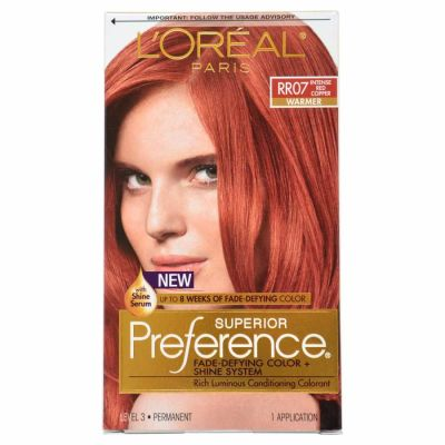 LOreal - LOreal Superior Preference Fade-Defying Color RR07 Intense Red Copper - Warmer 1 Application