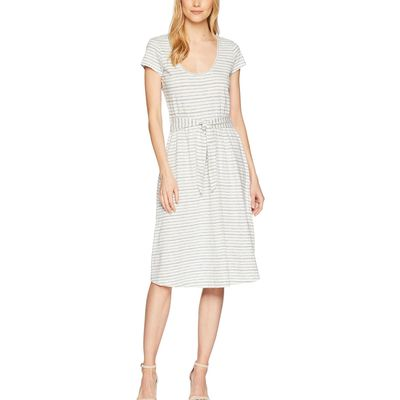 Lucky Brand - Lucky Brand Blue Multi Scoop Neck Dress