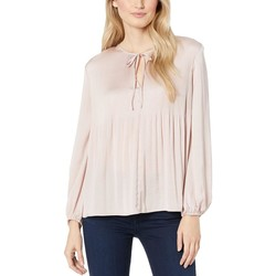 Lucky Brand Blush Pleated Peasant Top - Thumbnail