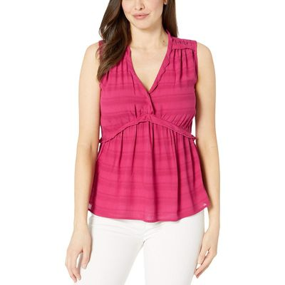 Lucky Brand - Lucky Brand Cherries Jubilee Sleeveless Romantic Ruffle Top