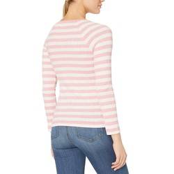 Lucky Brand Coral Stripe Stripe Lace-Up Top - Thumbnail