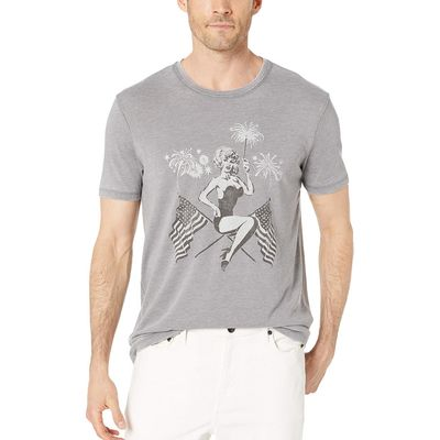 Lucky Brand - Lucky Brand Gargoyle Patriotic Pin Up Tee