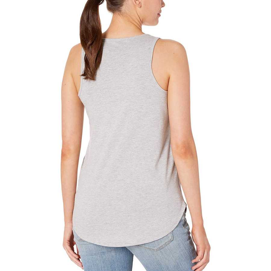 Lucky Brand Heather Grey Floral Tank Top