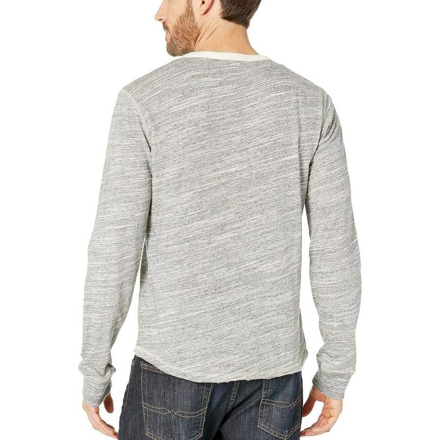 Lucky Brand Heather Grey Humboldt Henley Tee
