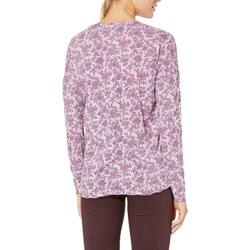 Lucky Brand Lavendar Multi Washed Western Henley Top - Thumbnail