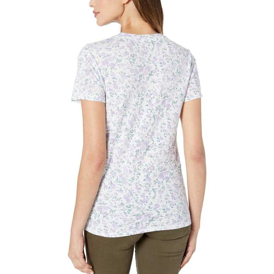 Lucky Brand Lavender Print All Over Floral Tee
