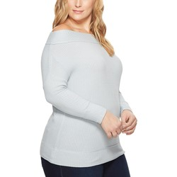 Lucky Brand Light Blue Plus Size Thermal Top - Thumbnail