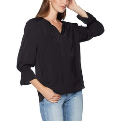 Lucky Brand Lucky Black Parachute Peasant Top - Thumbnail