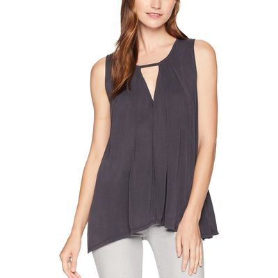 Lucky Brand - Lucky Brand Lucky Black Sand Wash Cut Out Tunic Top