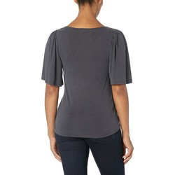 Lucky Brand Lucky Black Solid Wrap Top - Thumbnail