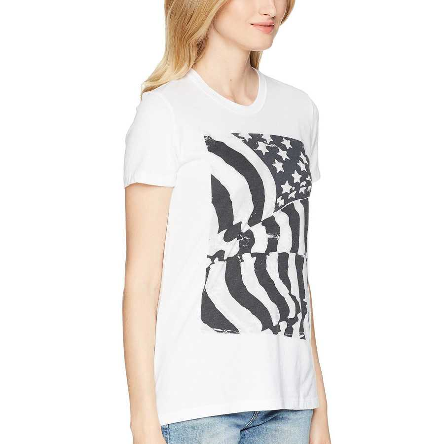 Lucky Brand Lucky White Flag Ruched Back Tee
