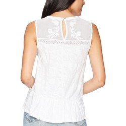 Lucky Brand Lucky White Tiered Jacquard Tank Top - Thumbnail