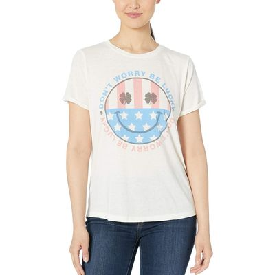 Lucky Brand - Lucky Brand Marshmallow Don'T Worry Be Lucky Tee