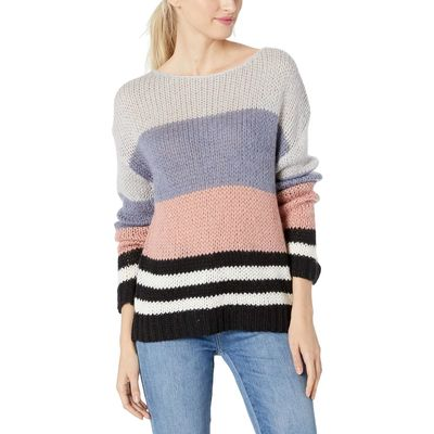 Lucky Brand - Lucky Brand Multi Bold Stripe Pullover Sweater